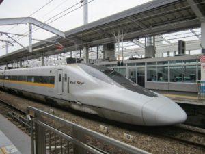 Moderner Zug in Japan