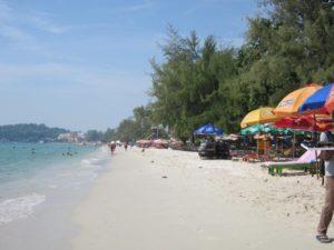 Strand in Kambodscha